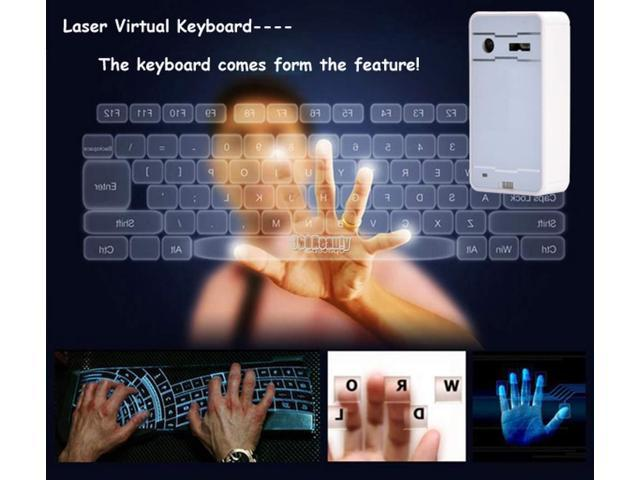 Wireless Bluetooth Laser Projection Virtual QWERTY Keyboard For Mobility