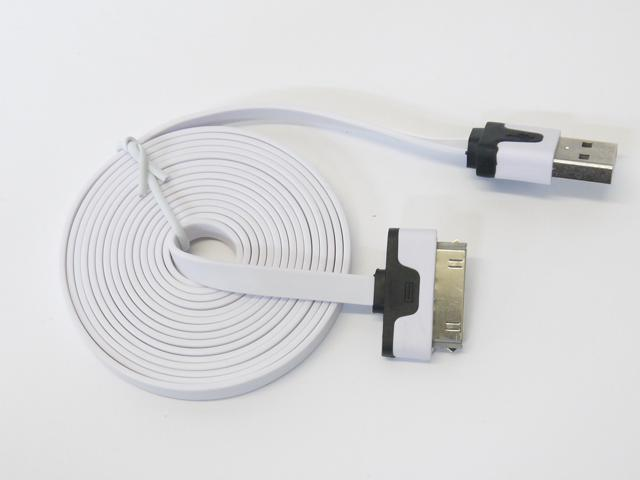 6 Feet White USB Charging Charger Sync Data Cable Cord for iPhone 1 3G 3GS 4 4S iPad 1 2 3 iPod Touch 1 2 ...