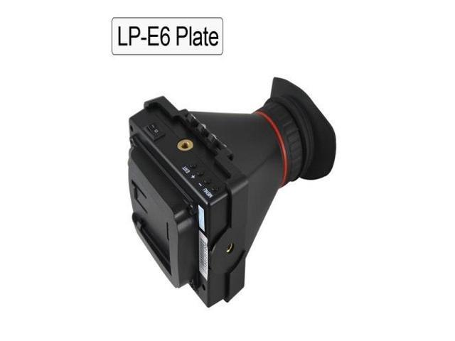 EVF 3.5'' LCD Screen Electronic Viewfinder for Camera Video Hdmi Lp-e6 Plate