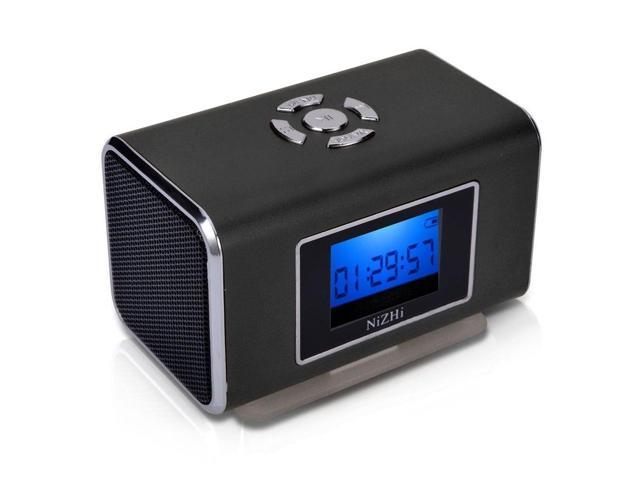 BLACK Nizhi TT6 Portable Digital Speaker MP3&MP4 Player LCD Screen FM Radio