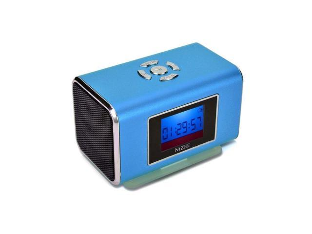 BLUE Nizhi TT6 Portable Digital Speaker MP3&MP4 Player LCD Screen FM Radio