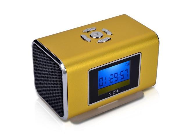 Brown Nizhi TT6 Portable Digital Speaker MP3&MP4 Player LCD Screen FM Radio