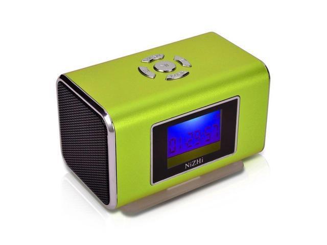 GREEN Nizhi TT6 Portable Digital Speaker MP3&MP4 Player LCD Screen FM Radio