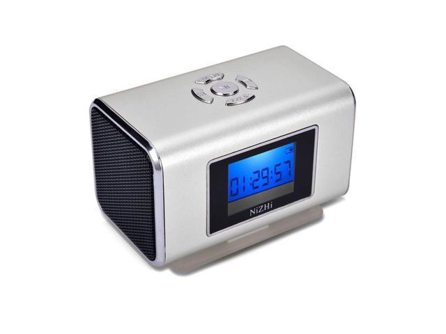 GREY Nizhi TT6 Portable Digital Speaker MP3&MP4 Player LCD Screen FM Radio