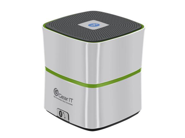 GearIt SoundCube Speaker, Compact Portable Bluetooth 4.0 Speaker with Built-in Mic and Speakerphone (Silver) - 10 hours Rechargeable Battery