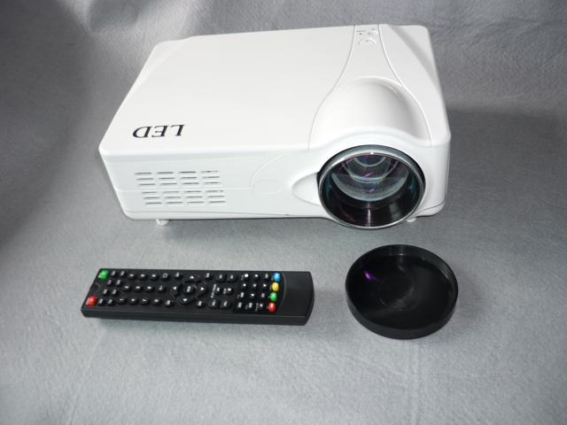Portable HD USB led projector built in tv tuner support 16:9 HDMI(by free express shipping, only 3-7 days to US)