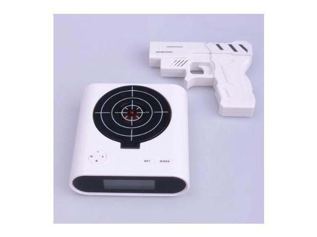 Laser Target Gun Alarm Clock with LCD Screen