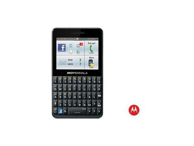 Motorola MOTOKEY SOCIAL EX225 Unlocked GSM Smartphone, Black