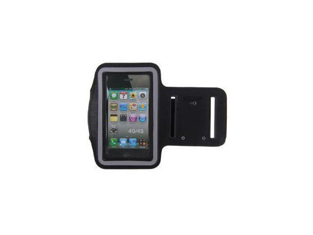 Reflective Armband for Apple iPhone 4 - Black
