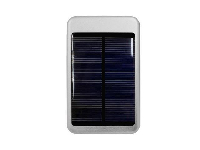 Solar Powered 6000 T-Pocket Universal Charger w/Interchangeable Adapters (5000 mAh) for Apple iPod Mini - Silver
