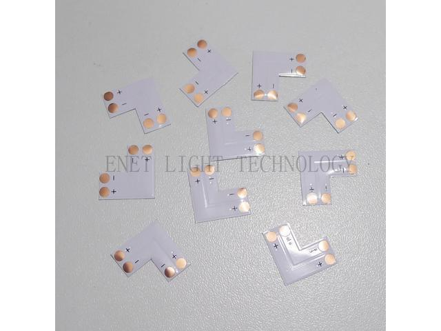 L Shape 2 PINs connector 10mm 5050 LED Flexible Strip Lighting 10PCS in pack