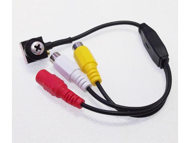 600TV Line Mini Spy camera Hidden camera with Audio Screw Wired CCTV Security Surveillance CMOS Color Video Camera NTSC/PAL