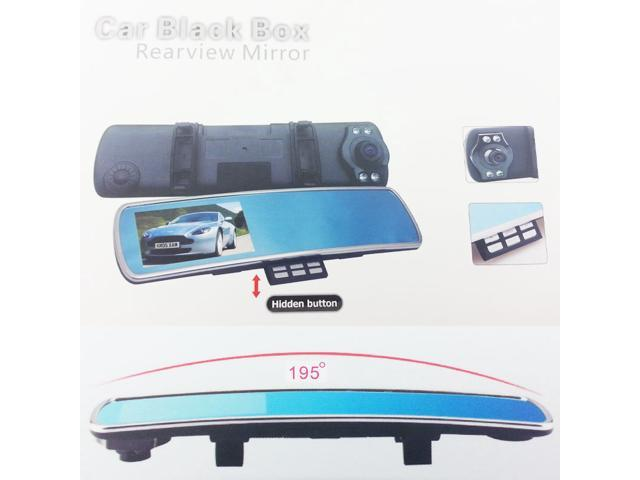 Full HD 1080P Car Mirror Camera DVR 170° Degree 4.3