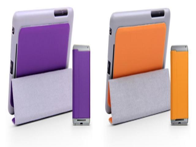 For Google Nexus 7 1st Generation Slim Magnetic PU Leather Case Smart Cover + Film + Stylus Purple