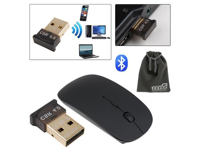 EEEKit for PC Laptop Bluetooth 4.0,CSR4.0 Adapter Dongle+Wireless Mouse+Pouch