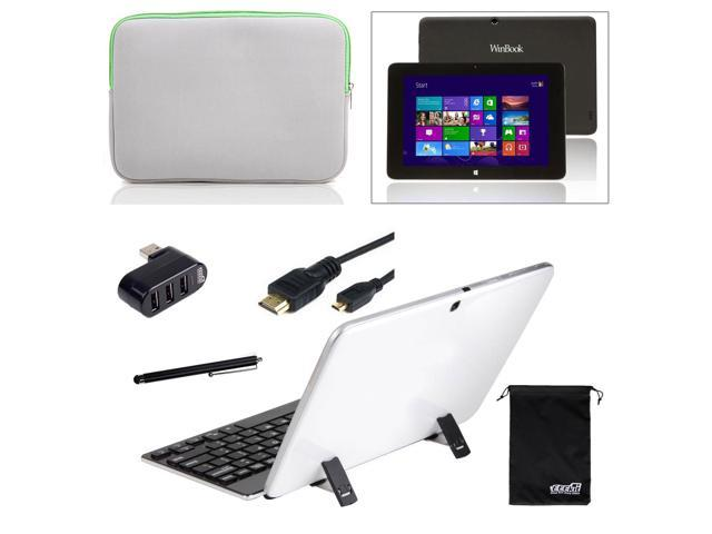 EEEKit for Winbook Tw100 10.1 Tablet, Sleeve Pouch+Bluetooth Keyboard/w Stand