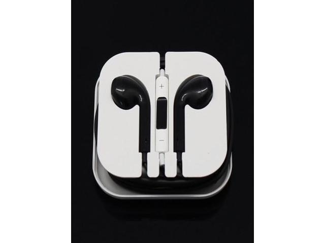 Newest Earphone Headset Headphone with Remote&Mic for iPhone 5/5S/5C iTouch 5 iPad2 3 Black