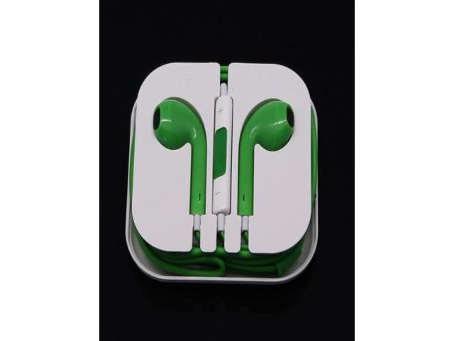 Newest Earphone Headset Headphone with Remote&Mic for iPhone 5/5S/5C iTouch 5 iPad2 3 Green