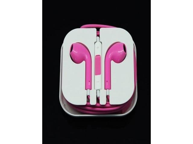 Newest Earphone Headset Headphone with Remote&Mic for iPhone 5/5S/5C iTouch 5 iPad2 3 Pink