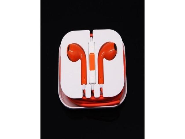 Newest Earphone Headset Headphone with Remote&Mic for iPhone 5/5S/5C iTouch 5 iPad2 3 Orange