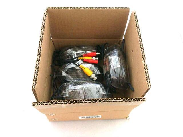 EASE W1803BD 60 Feet Siamese Video & Power Combo Cable for CCTV BLACK 4 PACK
