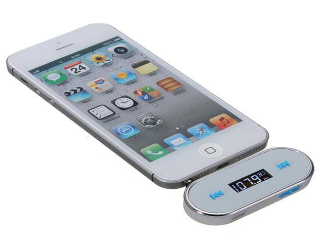 Wireless 3.5mm In-car Handsfree LCD Display FM Transmitter For iPhone 4S 5