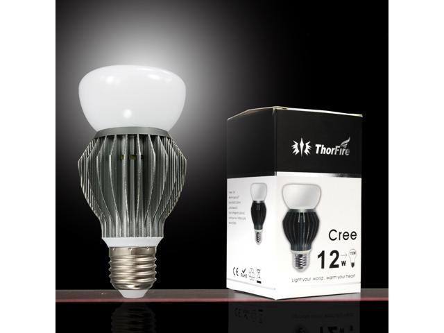 ThorFire E27 Cree chips 12W led light bulb, 81W Incandescent Bulbs Replacement, 1000lm, White