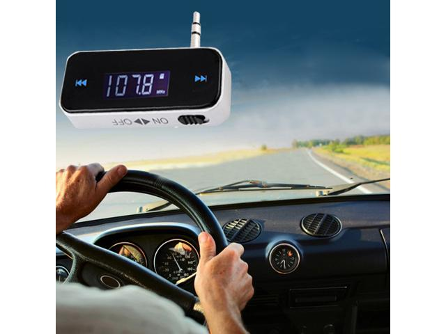 3.5mm Wireless In-car Fm Transmitter for iPhone 5 5S 5C 4S iPod Samsung Galaxy S4 S3 HTC