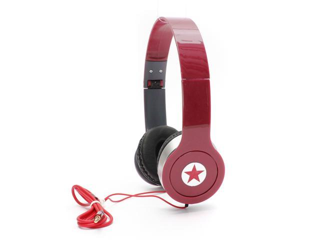 3.5mm Red Adjustable Headphone Headset Earphone for iPod iPhone 4S 5C 5S PC MP3 MP4 MP5 PC Devices Earphone Over Ear Stereo