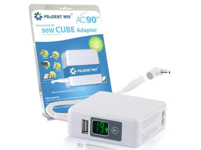 Prudent Way PWI-AC90CW 90W CUBE Adapter For Notebooks and LCDs