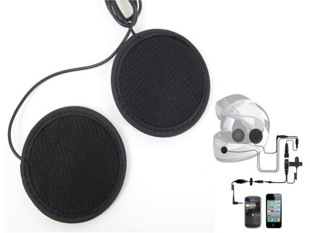 LEXINMOTO H2 In-Helmet Smartphone Stereo Headsets with PTT Button & Volume Control Compatible with iPhone 4G & Blackberry