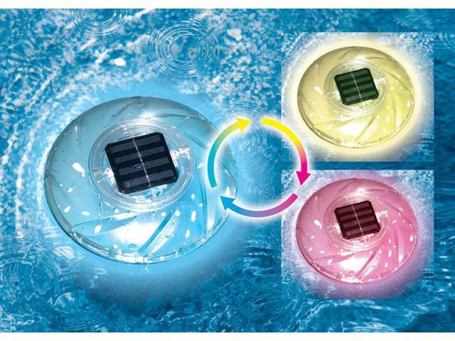 Swimline Rainbow Color Changing Floating Solar Light