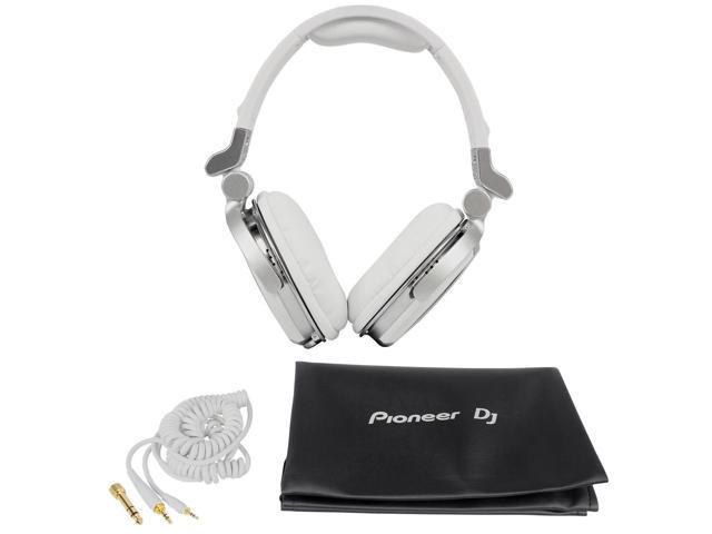Pioneer HDJ-1500 Professional DJ Headphones, 50mm Drivers, Ambient Noise Reduction, White