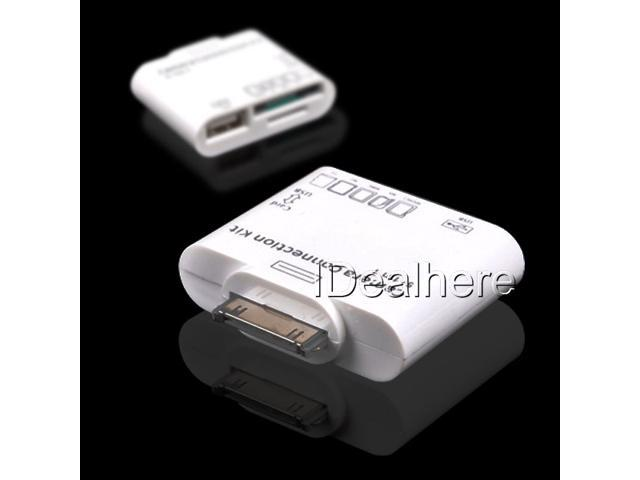 5 in1 USB Camera Connection Kit SD TF Card Reader Adapter for Apple iPad