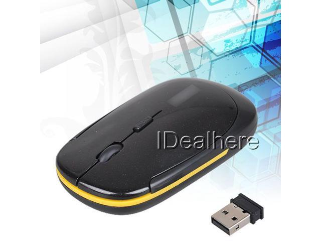 Wireless USB Optical Mouse for PC Laptop Computer Black