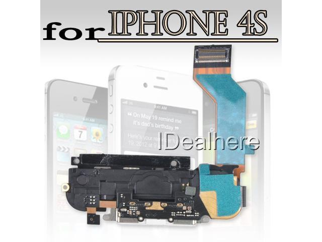 White Replace USB Dock Charge Pork+Speaker w/Antenna Flex Cable for iPhone 4S