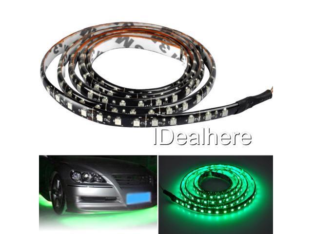 100cm Green 120LED SMD 3528/1210 Flexible Strip Light for Car Vans Motorbike