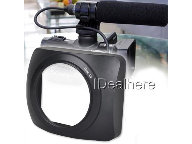 77mm Digital Video DV Lens Hood FOR Sony Panasonic Canon JVC Samsung