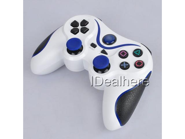 Wireless Gaming Controller for Playstation3 PS3 White & Blue