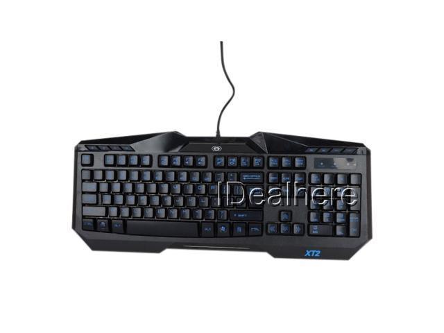 Black Illuminated Fully Backlight Media USB Wired Keyboard