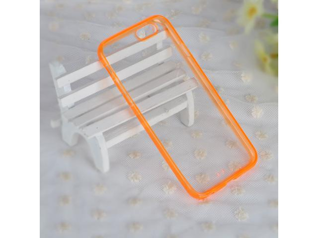 New Orange Transparent TPU Bumper Case Cover Back Protector for iPhone 6(4,7