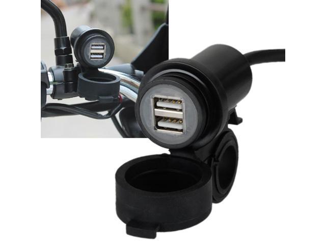 4.2A Dual USB Motorcycle Handlebar Charger Adapter for Phone/mp3/iPad/GPS