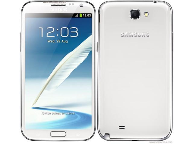 Samsung Galaxy Note II N7100 White 3G Unlocked Cell Phone w/ 5.5