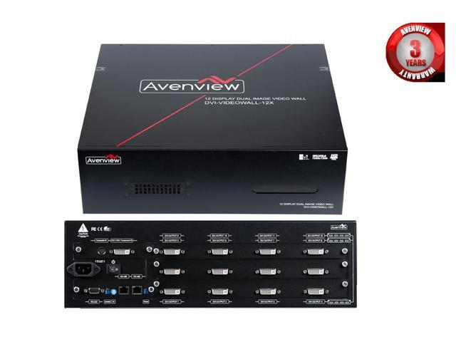 12 Port Dual Image Cascadable Videowall with Modular Video Cards