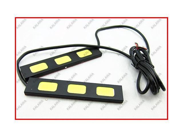 1 pair/2pc High power 3 led COB DRL Eagle eye ultralight white fog lamps daytime running light XH-3 waterproof JJJ