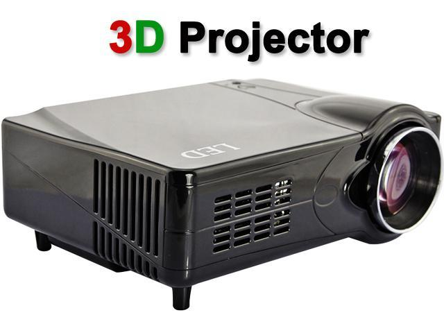 US Shipping Black 3D HDMI 1080P 2200LM 50000 Hours Home Theater Projector Support Red & Blue 3D+ HDMI+ YPbPr+ AV+ S-video+ VGA with Adjustable ...