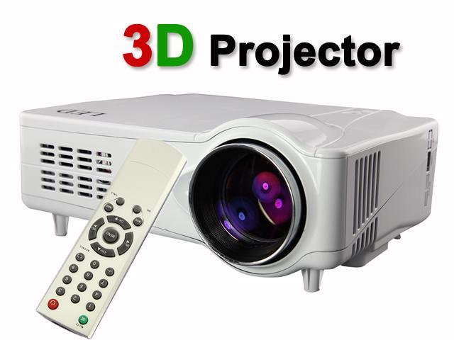 US Shipping White 3D HDMI 1080P 2200LM 50000 Hours Home Theater Projector Support Red & Blue 3D+ HDMI+ YPbPr+ AV+ S-video+ VGA with Adjustable ...