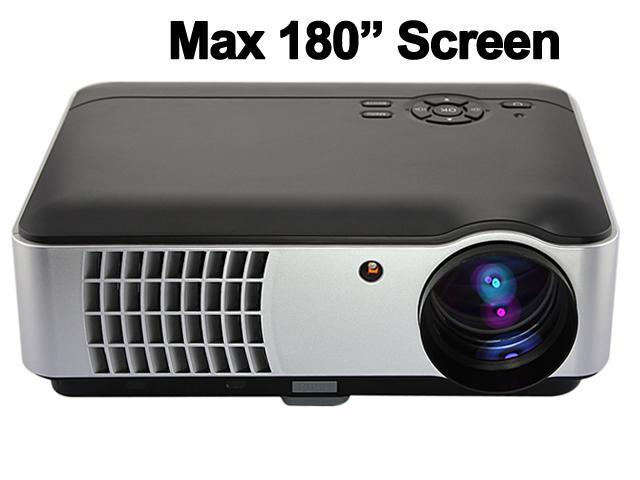 New HD 1080P 720P 2800 lumens 50000 Hours LED Projector Home Theatre 2x HDMI 2x USB AV VGA SD TV S-Video PS3 Wii (RD-806) -Black ...