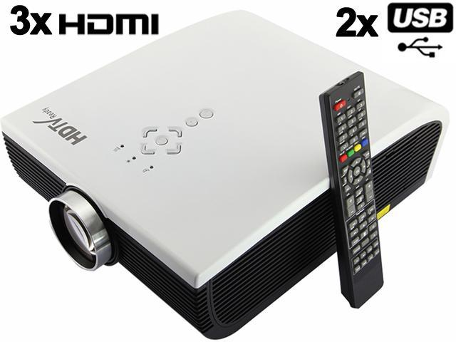 EPW700 HD 2000 lumens LED 3D-Ready Home Theater Projector Support HDMI*3 USB*2 UP TO 190