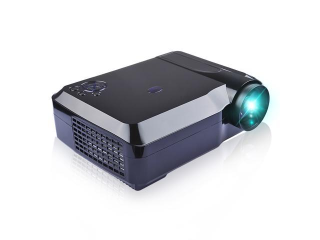Brand New Full HD Projector 2800 Lumens, 16:9 Aspect Ratio, Contrast Ratio 1200:1, 30,000 Hours Bulb Life, Support 1080P, 720P, with 2 HDMI+2 USB ...